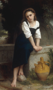 Picture no: 30008739 W.Bouguereau, Orphan by a Spring Created by: Bouguereau, William Adolphe