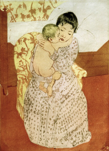 Picture no: 30008759 Cassatt / Woman and Child / Etching Created by: Cassatt, Mary