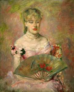 Picture no: 30008777 M. Cassatt, A. Ch. Gaillard with Fan. Created by: Cassatt, Mary
