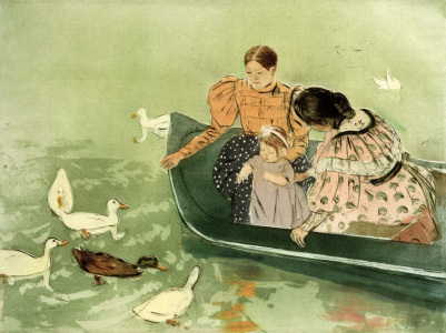 Picture no: 30008789 M.Cassatt, Feeding the Ducks Created by: Cassatt, Mary