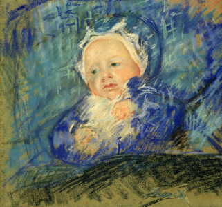Picture no: 30008803 Cassatt / Child on Blue Cushion / 1881 Created by: Cassatt, Mary