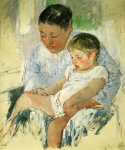 Picture no: 30008811 M. Cassatt, Jenny and her sleepy child. Created by: Cassatt, Mary