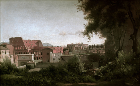 Picture no: 30008875 Colosseum from Farnesian Gardens / 1826 Created by: Corot, Jean Baptiste Camille