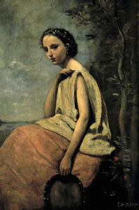 Picture no: 30008887 C.Corot / Gypsy with tambourine Created by: Corot, Jean Baptiste Camille