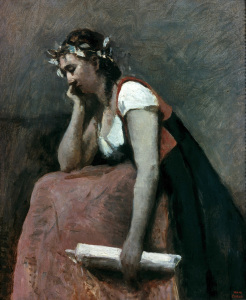 Picture no: 30008893 Corot / La Poesie / c. 1868 Created by: Corot, Jean Baptiste Camille