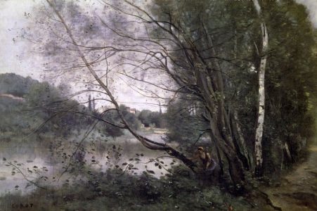 Picture no: 30008899 C. Corot / Lake with bending Trees Created by: Corot, Jean Baptiste Camille