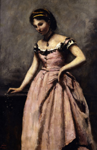Picture no: 30008901 Corot / Young woman in pink dress Created by: Corot, Jean Baptiste Camille