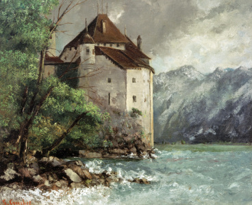Picture no: 30008959 Courbet / Château de Chillon / Painting Created by: Courbet, Gustave