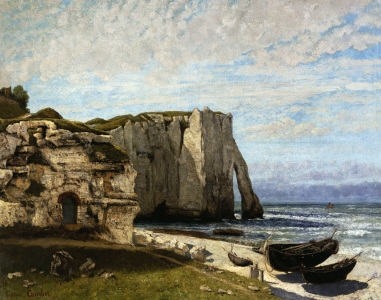 Picture no: 30008993 Courbet / Cliff at Etretat Created by: Courbet, Gustave