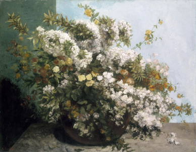 Picture no: 30008997 Courbet / Still life of Flowers / 1855 Created by: Courbet, Gustave