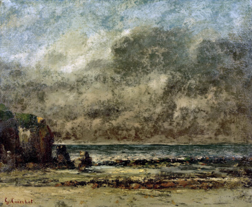 Picture no: 30009005 G.Courbet / Seascape. The Calm / 1865/67 Created by: Courbet, Gustave