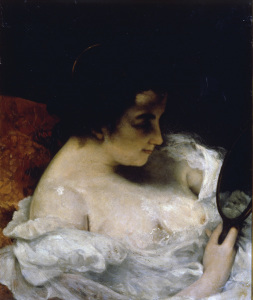 Picture no: 30009007 G.Courbet / La Femme au Mirroir / 1860 Created by: Courbet, Gustave