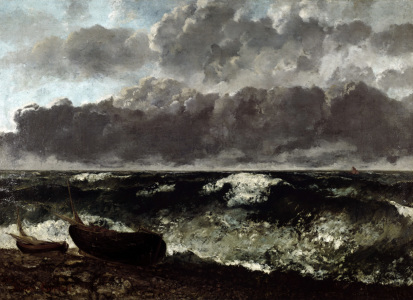 Picture no: 30009011 Courbet / Stormy Sea or The Wave / 1870 Created by: Courbet, Gustave