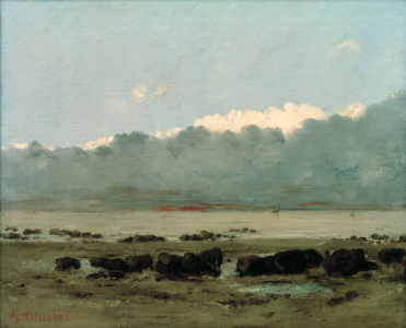 Picture no: 30009023 Courbet / Black rocks near Trouville Created by: Courbet, Gustave