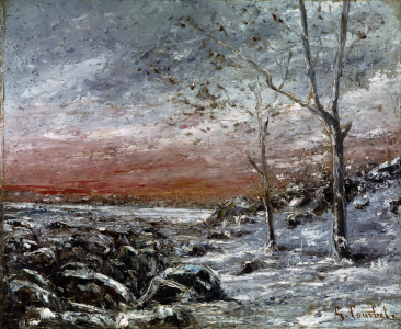 Picture no: 30009027 Courbet / Winter landscape / Painting Created by: Courbet, Gustave
