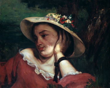Picture no: 30009031 Courbet / Head of a Girl / Painting 1857 Created by: Courbet, Gustave