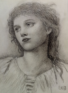 Picture no: 30009226 E.Burne-Jones, Study  for 'Wine of Circe Created by: Burne-Jones, Edward