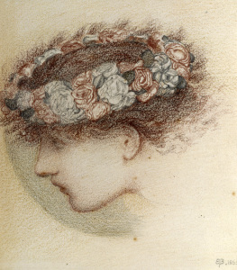 Picture no: 30009228 E. Burne-Jones, Study for head of Cupid Created by: Burne-Jones, Edward