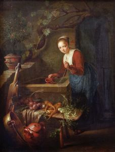 Picture no: 30009238 Gerard Dou / Kitchen Maid by the well Created by: Dou, Gerard