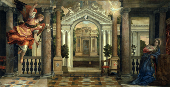 Picture no: 30009375 P.Veronese / Annunciation of Mary / C16 Created by: Veronese, Paolo