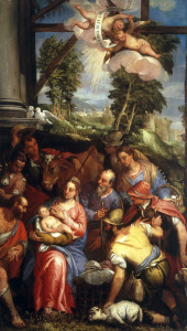 Picture no: 30009377 Veronese Family / Adoration of Shepherds Created by: Veronese, Paolo