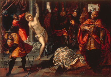 Picture no: 30009419 Tintoretto / Flogging of St. Catherine Created by: Tintoretto, Jacopo