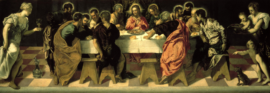 Picture no: 30009509 Tintoretto/The Last Supper (S. Marcuola) Created by: Tintoretto, Jacopo