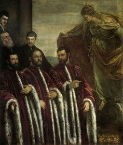 Picture no: 30009527 Tintoretto / Treasurers & St.Justina Created by: Tintoretto, Jacopo