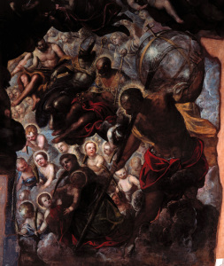 Picture no: 30009551 Tintoretto / Paradise, Detail / 1588/92 Created by: Tintoretto, Jacopo