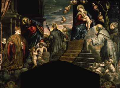 Picture no: 30009566 Andrea Grittin worshipping / Tintoretto Created by: Tintoretto, Jacopo