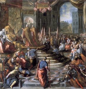 Picture no: 30009568 Tintoretto / Papal-Venetian Peace Deleg. Created by: Tintoretto, Jacopo