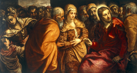 Picture no: 30009570 J.Tintoretto / Christ and Adulteress Created by: Tintoretto, Jacopo