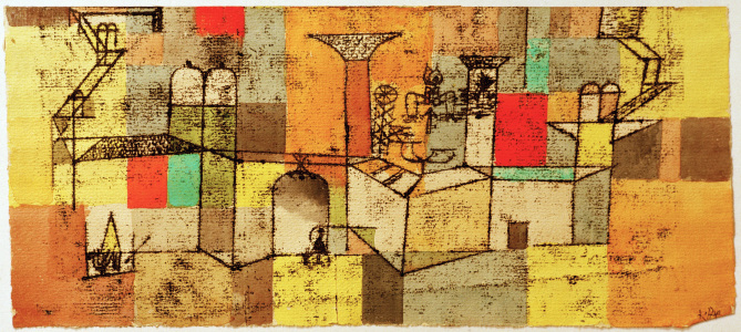 Picture no: 30009580 P.Klee, Temple / Watercolour / 1921 Created by: Klee, Paul