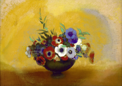Picture no: 30009646 O.Redon, Anemones / Pastel Created by: Redon, Odilon