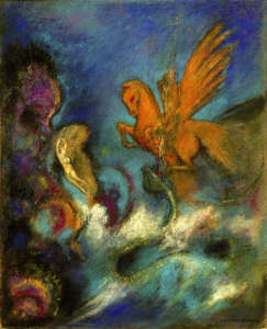 Picture no: 30009650 O.Redon, Roger and Angelica / Perseus... Created by: Redon, Odilon