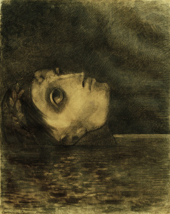 Picture no: 30009726 O.Redon, Drowning Glory (Orpheus) / Draw Created by: Redon, Odilon