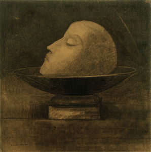 Picture no: 30009742 O.Redon, Head of a Martyr / Drawing Created by: Redon, Odilon