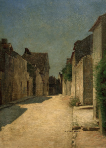 Picture no: 30009756 O.Redon, Street in Samois / Paint./ 1888 Created by: Redon, Odilon