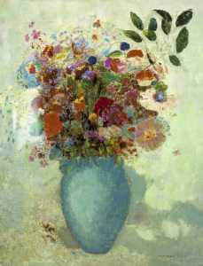 Picture no: 30009760 Redon (Odilon)/Flowers in turq. c1905 Created by: Redon, Odilon