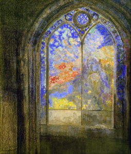 Picture no: 30009776 O.Redon, Stained-Glass Window.../Pastel Created by: Redon, Odilon