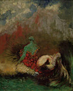 Picture no: 30009778 O.Redon, Siren / Painting / c.1900 Created by: Redon, Odilon