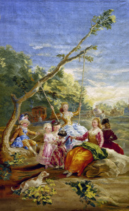 Picture no: 30009824 F.de Goya, The Swing / Tapestry Created by: Goya, Francisco de