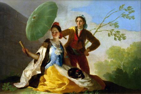 Picture no: 30009927 Francisco Goya, The Parasol / Paint. Created by: Goya, Francisco de