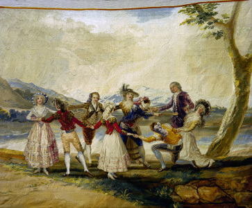 Picture no: 30009937 F.de Goya, Blind Man's Buff / Tapestry Created by: Goya, Francisco de