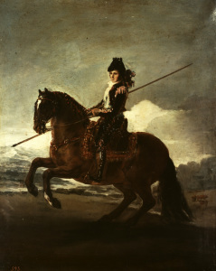 Picture no: 30009953 F.de Goya, Picador on Horseback / Paint. Created by: Goya, Francisco de