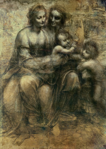 Picture no: 31000016 The Virgin and Child with SS. Anne and John the Baptist, c.1499 Created by: da Vinci, Leonardo