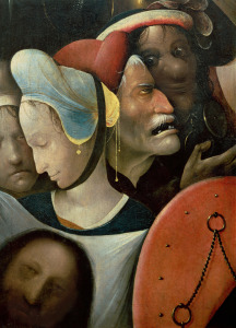 Picture no: 31000067 Detail of The Carrying of the Cross showing three faces including St Veronica Created by: Bosch, Hieronymus