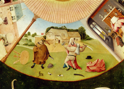 Picture no: 31000081 Wrath, detail from the Table of the Seven Deadly Sins and the Four Last Things,  Created by: Bosch, Hieronymus