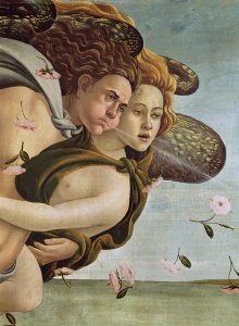 Picture no: 31000114 Zephyr and Chloris, detail from The Birth of Venus, c.1485 Created by: Botticelli, Sandro