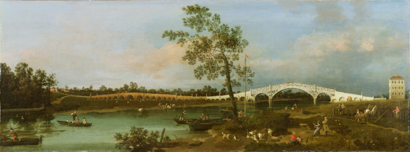 Picture no: 31000160 Old Walton's Bridge, 1755 Created by: Canal, Giovanni Antonio & Bellotto, Bernardo
